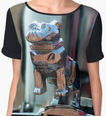 Barking up to the wrong tree Mack! Vintage lorry chrome object. Chiffon Top