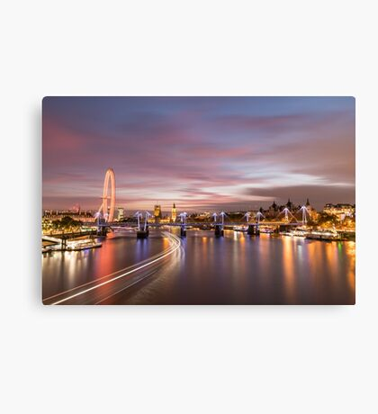 Sunset on the Thames - London Canvas Print