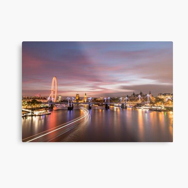 Sunset on the Thames - London Metal Print