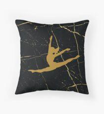 Gymnast Silhouette Throw Pillow