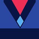 Quick Cosplay: Carnelian Blue Diamond Uniform by crystal-clod