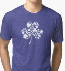 St Patrick's Day Irish Shamrock Clover Tri-blend T-Shirt