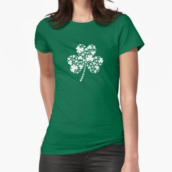 St Patrick's Day Irish Shamrock Clover Fitted T-Shirt