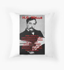 And I Beheld - HG Wells Throw Pillow