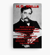 And I Beheld - HG Wells Canvas Print