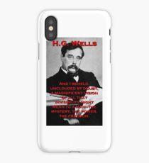 And I Beheld - HG Wells iPhone Case/Skin