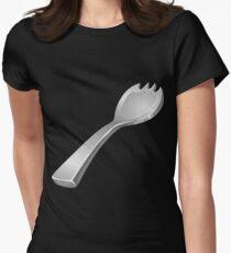 Wetdryvac Presents Glitch: artifact platinumium spork Women's Fitted T-Shirt