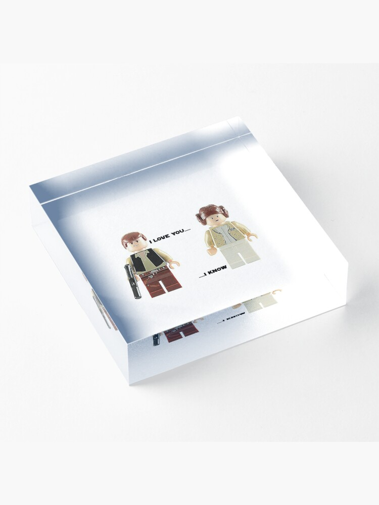 Alternate view of I love you - I know Acrylic Block