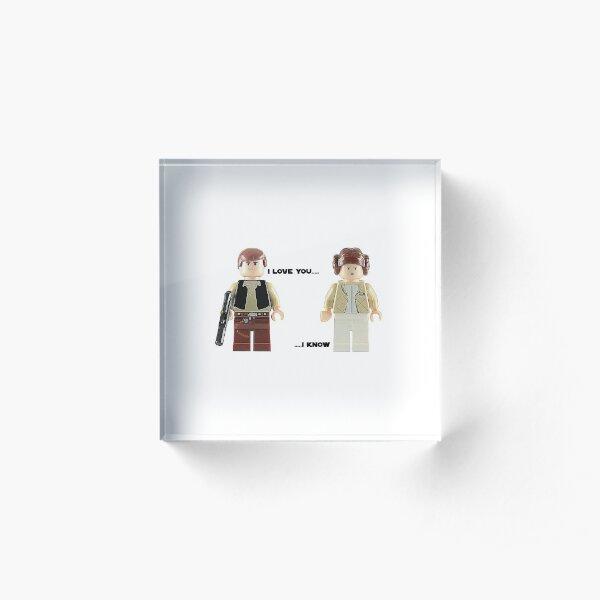 I love you - I know Acrylic Block