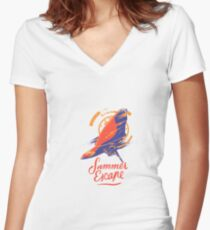 Surfing Surfer Ocean Sport Women's Fitted V-Neck T-Shirt