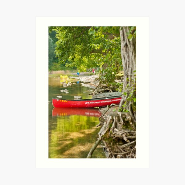 The Red Canoe on Buttermere Art Print