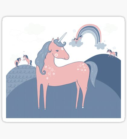 Unicorn Hills Sticker