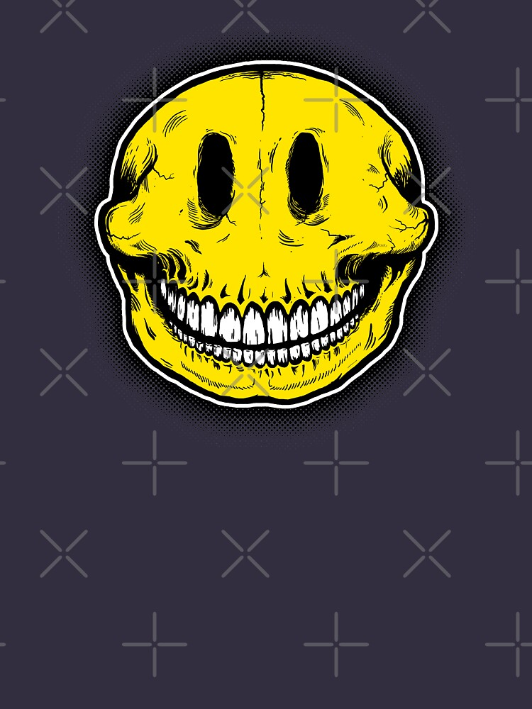 Smiley Skull Sketch | Unisex T-Shirt