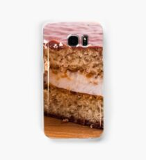 Biscuit with chocolate and a layer of milk souffle Samsung Galaxy Case/Skin