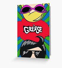 Grease Minimalism Pop Art Greeting Card