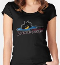lake erie monsters jersey Women's Fitted Scoop T-Shirt