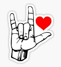 Hand I Love You ILY ASL Symbol Gesture stickers Sticker