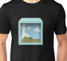 Glitch bag furniture blue diorama display box Unisex T-Shirt