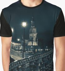 Plaza de Espana at night - Seville Graphic T-Shirt