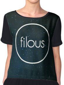 Filous Logo Space Chiffon Top