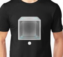 Glitch bag furniture blue glass display box Unisex T-Shirt