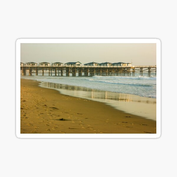 San Diego Crystal Pier in Warm Gold  Sticker