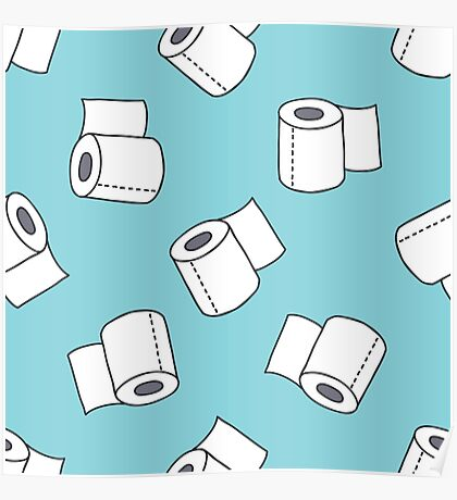 doodle pattern. toilet paper Poster