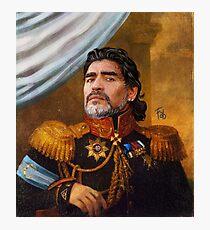 Diego Armando Maradona - El Rey Photographic Print