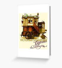 Victorian Steampunk Gypsies Greeting Card