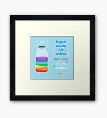 Organic and natural unicorn milk Framed Print