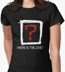 Where Is The Love ? Womens Fitted T-Shirt