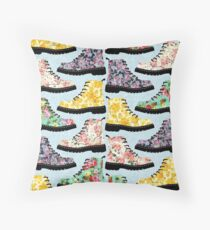 90's boots Throw Pillow
