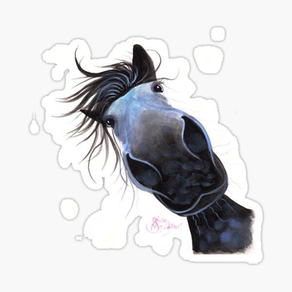 PFERD PRINT 'APPLE DAPPLE DARWIN' VON SHIRLEY MACARTHUR Sticker