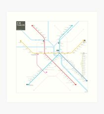 Tianjin Metro Map Art Print