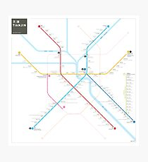 Tianjin Metro Map Photographic Print