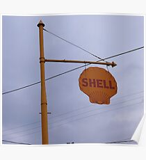 Antique Shell Sign Poster