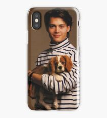 Johnny Depp with Puppy iPhone Case/Skin