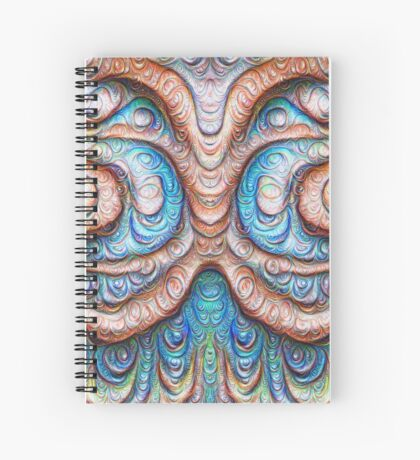 Frozen Monster mind #DeepDream #Art Spiral Notebook