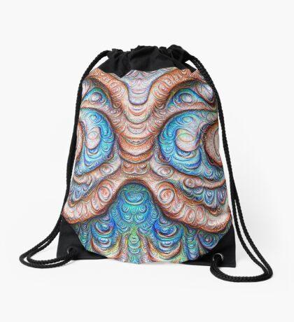 Frozen Monster mind #DeepDream #Art Drawstring Bag