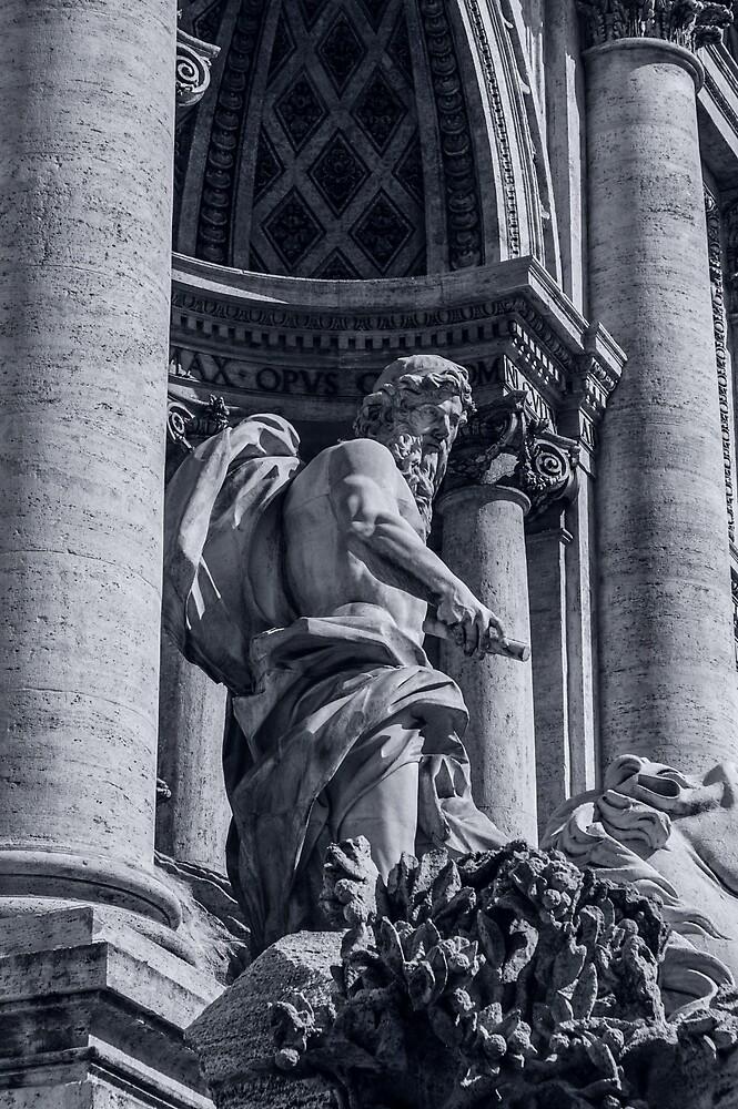 Rome - The Trevi Fountain by Andrea Mazzocchetti