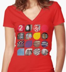 Cold Comfort Collage — The Streets Women's Fitted V-Neck T-Shirt