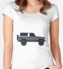 Toyota Land Cruiser  HZJ73 (machito) (renati.rzdm@gmail.com) Women's Fitted Scoop T-Shirt