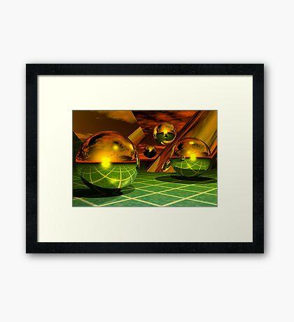 Noble Metal Worlds Framed Print