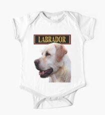 Golden Labrador Retriever One Piece - Short Sleeve