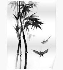 Japanese bamboo Poster