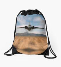Buccaneer Red Flag Drawstring Bag