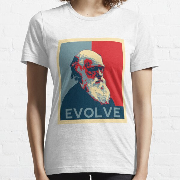 Charles Darwin Evolve Evolution Essential T-Shirt