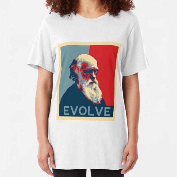 Charles Darwin Evolve Evolution Slim Fit T-Shirt