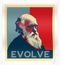 Póster Evolución de Charles Darwin Evolve