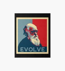 Charles Darwin Evolve Evolution Art Board